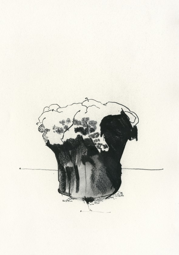 Cathedral Lump - Charcoal on paper, 21cm x 29cm - £350.00
