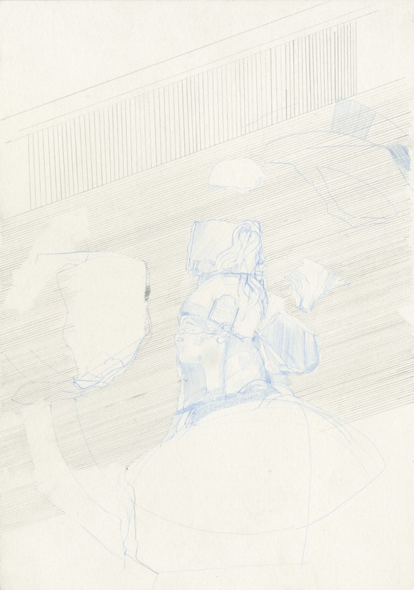 Horatii Curatii No.1 - Pencil on paper, 21cm x 29cm - £350.00