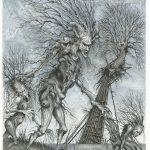 Tussle - Ink on paper, 28cm x 40cm (2017) - £500.00