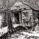Fleshing shed