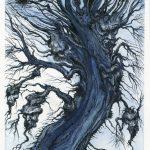 Devil Tree - Pen and ink wash on illustration board, 18cm x 38.5cm (2017) - £250.00