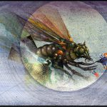 Hive Attack  Ink on illustration board, 17.5cm x 25cm (1977) - £750.00