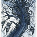 Devil Tree - Pen and ink on illustration board, 18cm x 38.5cm (2018) - £200.00