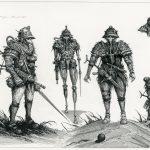 Stranger Mark 2 - Pen and ink on illustration board, 34cm x 47cm (2018) - £595.00