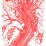Devil Tree - Pen and ink on illustration board, 18cm x 38.5cm (2018) - SOLD