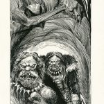 Phantoms of Fear No.3 FF - Ink and watercolour on paper, 26.5cm x 45cm (1987) - £495.00