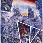 The City Ruin 14 (Graphic Novel) - Ink on illustration board, 28.5cm x 36cm (1992) - £850.00