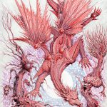 Red Dragon / Arcane Tin men - Pen, ink and graphite on illustration board, 30.5cm x 45cm (2018) - £1,600.00