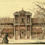 Roman Villa - Pen and ink on paper, 30.5cm x 38cm (1986) - £650.00