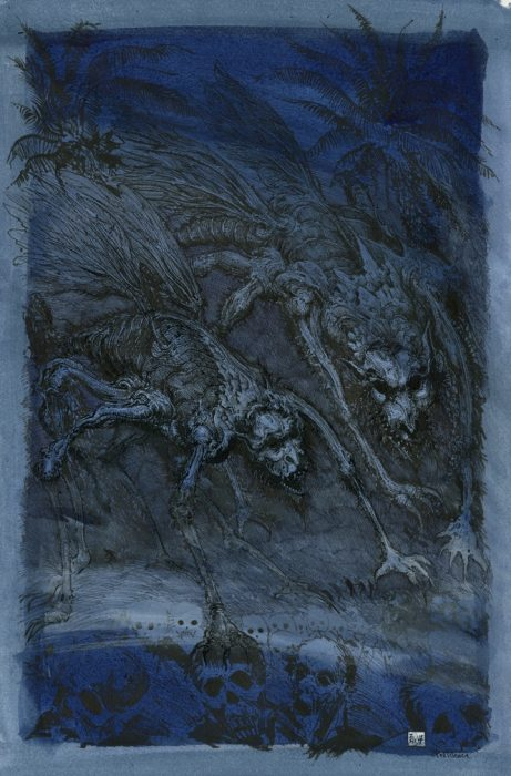 Pestilence - Pen and ink wash on paper, 30cm x 45cm (2015) - £475.00
