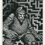 Maze Ghoul Pen and ink on illustration board 14cm x 20.5cm (1985) £400.00