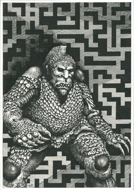 Maze Ghoul Pen and ink on illustration board 14cm x 20.5cm (1985) £400.00