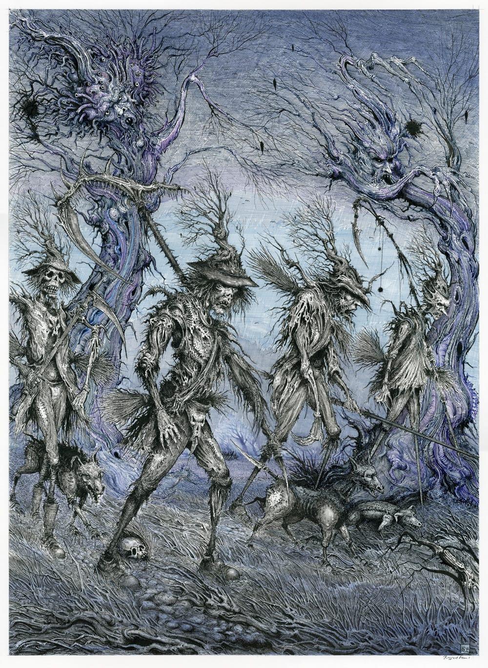 Ragged Men Pen and ink on illustration board 43.8cm x 60cm (2021) £2,000.00