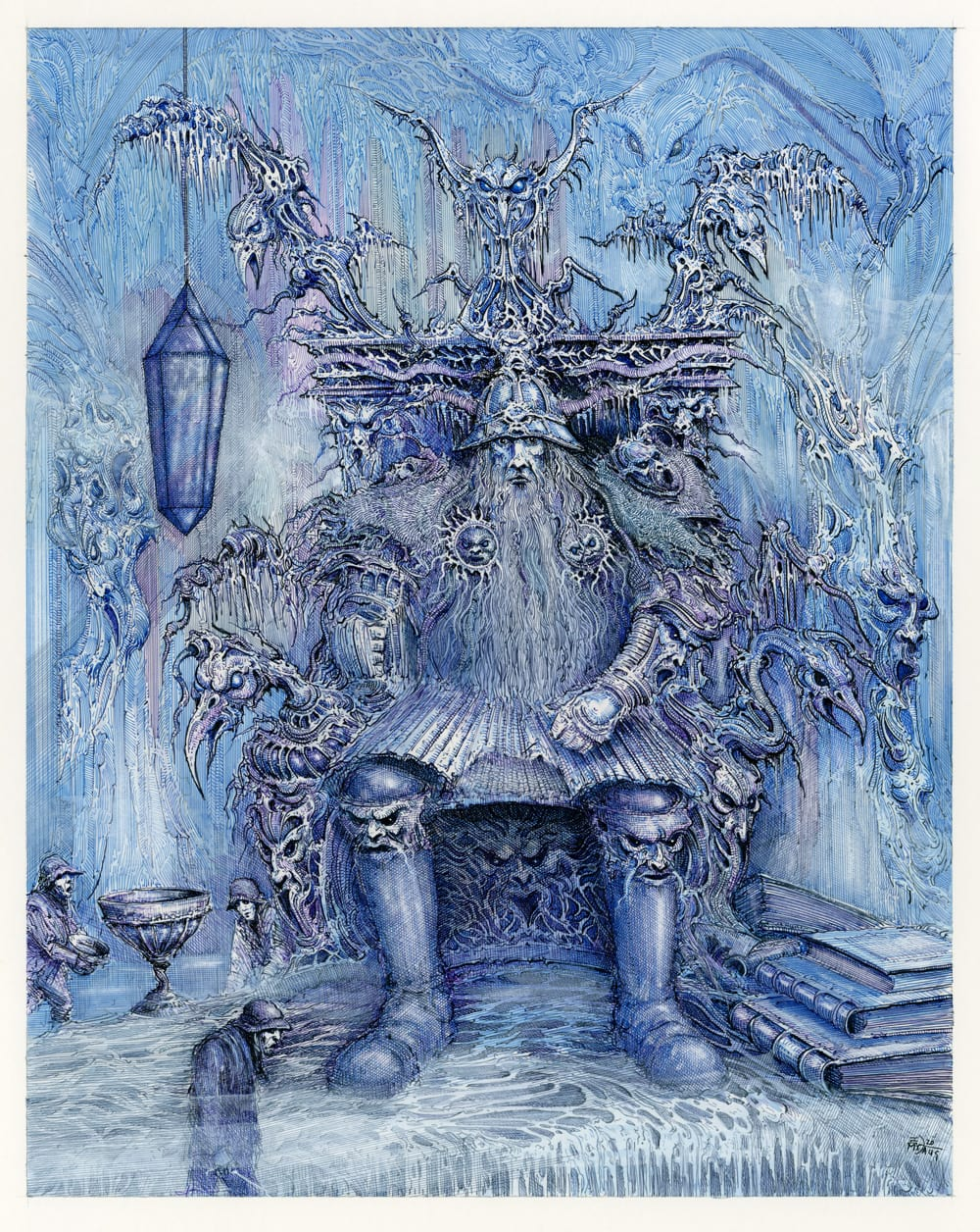 The Ice King Pen and ink on illustration board 28cm x 35.5cm (2020) £1,000.00