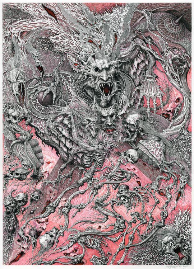 Warp Warrior Pen and ink on illustration board 45.5cm x 63cm (2020) £2,500.00
